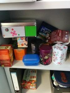 Teeschrank in meinem Büro